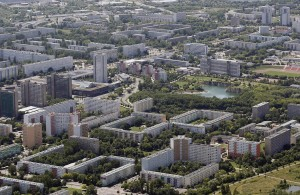 Halle Neustadt, a well-known housing project. Again, very green