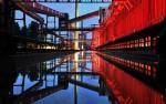 Zollverein Eisbahn in summer