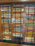 Wall of souvenir pencils